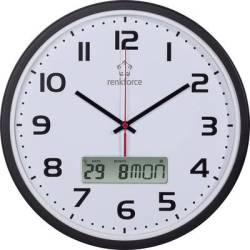 Renkforce HD WRCL135 Radio Wall clock 32 cm x 4.5 cm Black