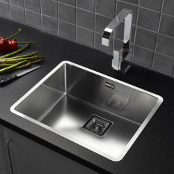 Reginox Texas 50 x 40 Integrated Stainless Steel Single Bowl Kitchen Sink with Waste Included