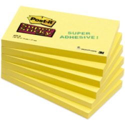 Post It Super Sticky Notes 3 in x 5 in Canary Yellow 12...