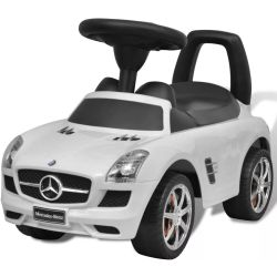 vidaXL Mercedes Benz Foot Powered Kids Car White