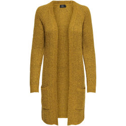 ONLY Long Knitted Cardigan Women Yellow