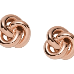 Fossil Women Knot Studs Gold One size