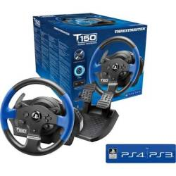 Thrustmaster T150 RS Force Feedback Steering wheel USB 2.0 PlayStation 3 PlayStation 4 PC Black blue incl. foot pedals