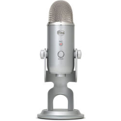 BLUE Yeti Professional USB Microphone Silver Blue