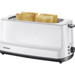 Severin AT 2234 Twin long slot toaster with home baking attachment White Grey
