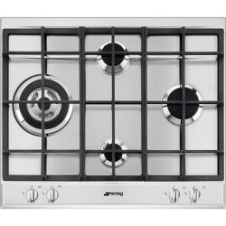 SMEG P261XGH Gas Hob Stainless Steel Stainless Steel