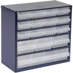 raaco 616 123 Small parts container (W x H x D) 306 x 283 x 150 mm No. of compartments 16