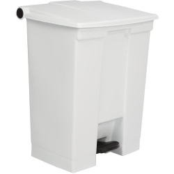 Rubbermaid Step On Pedal Bin White 68Ltr