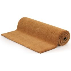 vidaXL Doormat Coir 24 mm 100x100 cm Natural