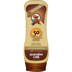 Australian Gold SPF50 Lotion Sunscreen BRONZER 237 ml