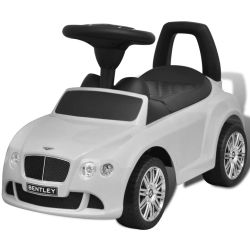 vidaXL Bentley Foot Powered Kids Car White