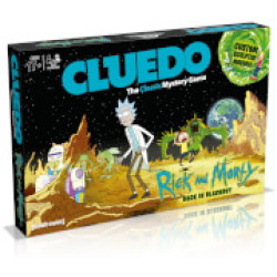 Cluedo Mystery Board Game Rick and Morty Edition