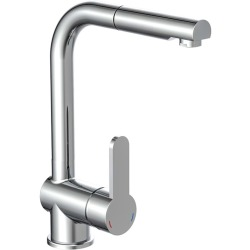 SCHÜTTE Sink Mixer with Pull out Spray LONDON Low Pressure Chrome