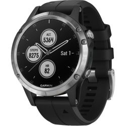 Garmin Fenix 5 Plus Multisport Watch With Music Maps And Garmin Pay Silver With Black Band