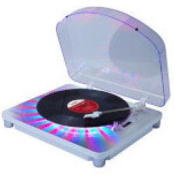 ION Photon LP Multi Color Lighted Turntable with USB Conversion