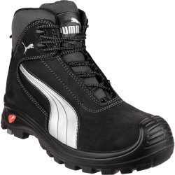 Puma Mens Safety Cascades Mid Safety Boots Black Size 6