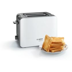 Bosch TAT6A111GB ComfortLine 2 Slice Toaster in White