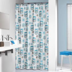 Sealskin Shower Curtain Owl 180 cm Blue 210871324