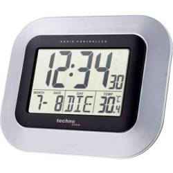 Techno Line WS 8005 Radio Wall clock 228 mm x 180 mm x 28 mm Silver Black