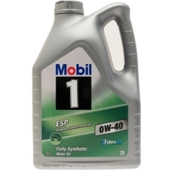 Mobil 1 ESP 0W 40 Fully Synthetic 5 Litre Car Engine Oil Lubricants 151495