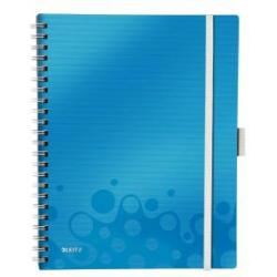 Leitz Blue WOW Notebook Be Mobile A4 ruled wirebound with