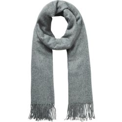 PIECES Wool Scarf Women Grey