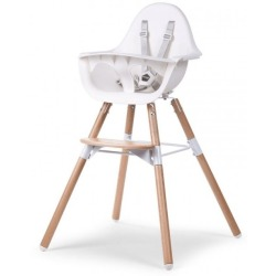 Childhome Evolu 2 Chair 2 in 1 with Bumper White