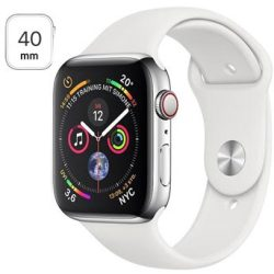 Apple Watch Series 4 LTE MTVJ2FD A Stainless Steel Sport Band 40mm 16GB Silver