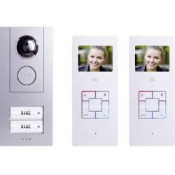 m e modern electronics Vistus VD6320 Video door intercom Corded Complete kit Semi detached Silver White