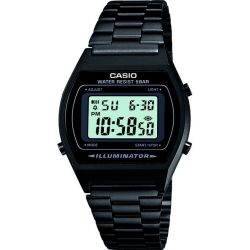 Casio B640WB 1AEF Classic Digital Watch with Stainless Steel Band Black