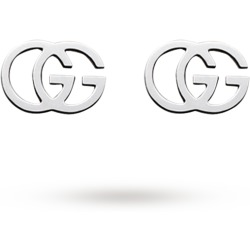 Gucci GG Tissue 18ct Gold Stud Earrings