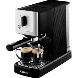 Krups Calvi XP3440 Espresso machine with sump filter holder Silver Black 1460 W incl. frother nozzle