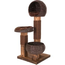 Scorched Wood Cat Tree Warm brown