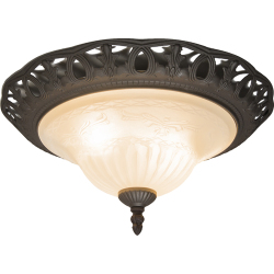Rustic brown ceiling lamp with glass Elegant