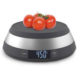 Joseph Joseph Switch Led Kitchen Scale With Removable Bowl Grey
