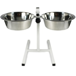 Rosewood Adjustable Double Diner Dog Bowl Large