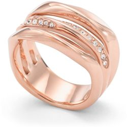 Ladies Fossil Rose Gold Plated Size M.5 Ring Size M.5