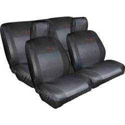 Eufab 28059 Seat covers Cotton Polyester Black Back seat Drivers seat Passenger seat