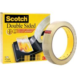 Scotch Double Sided Tape Permanent Long life 19mmx32.9m Clear Ref...