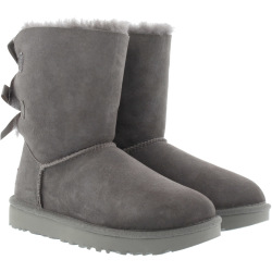 UGG Boots Booties W Bailey Bow II Grey grey Boots Booties for ladies