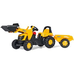 Rolly Kid JCB Tractor with Frontloader and Trailer