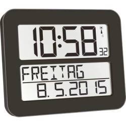 TFA Dostmann 60.4512.01 Radio Wall clock 258 mm x 212 mm x 30 mm Black