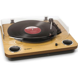 ION Max LP Turntable Wood