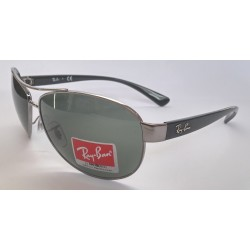 Ray Ban Sunglasses AVIATOR 3386 004 71 GUNMETAL BLACK GREEN NEW 100 ORIGINAL