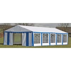 vidaXL Party Tent Top and Side Panels 10 x 5 m Blue White