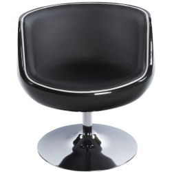 Raheen Black Faux Leather Chair