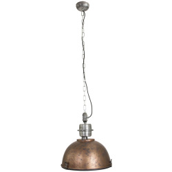 Industrial hanging lamp antique brown with steel Gospodin