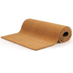 vidaXL Doormat Coir 24 mm 100x300 cm Natural