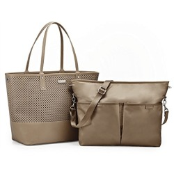 Skip Hop Duette Tote Changing Bag Taupe