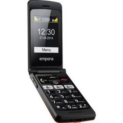Emporia FlipBasic Big button mobile phone Charging station Panic button Red